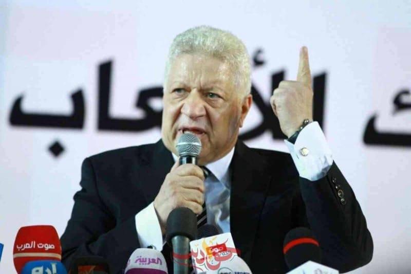 رئيس نادى الزمالك المعزول المستشار مرتضى منصور
